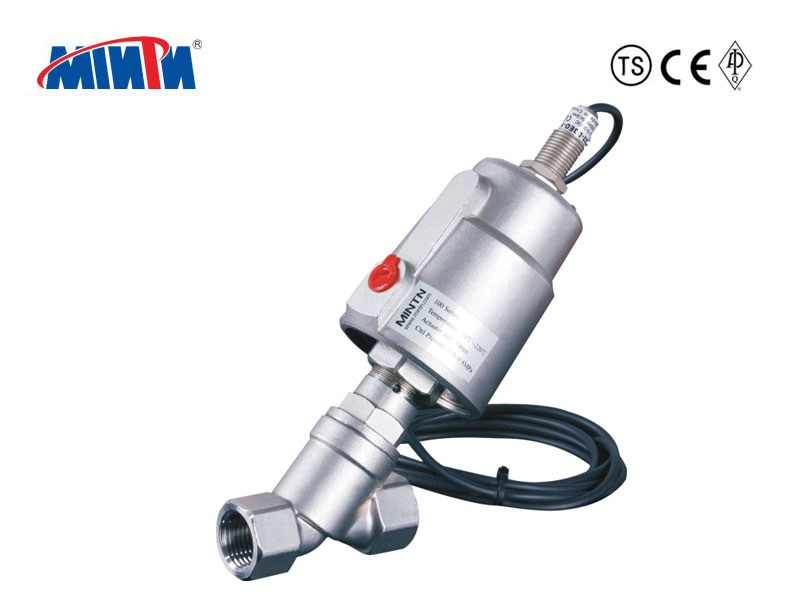 Pneumatic Angle Seat Valve with Proximity Switch