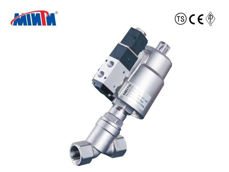 Pnuematic Angle Seat Valve with Solenoid Valve